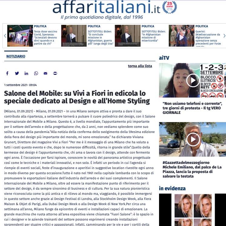 Viviana Grunert su AFFARI ITALIANI-01.09.2021