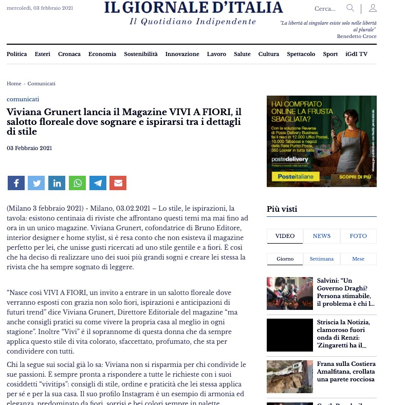 Viviana Grunert su IL GIORNALE D'ITALIA-03.02.2021