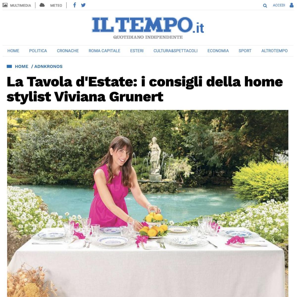 Viviana Grunert su IL TEMPO-18.06.2021