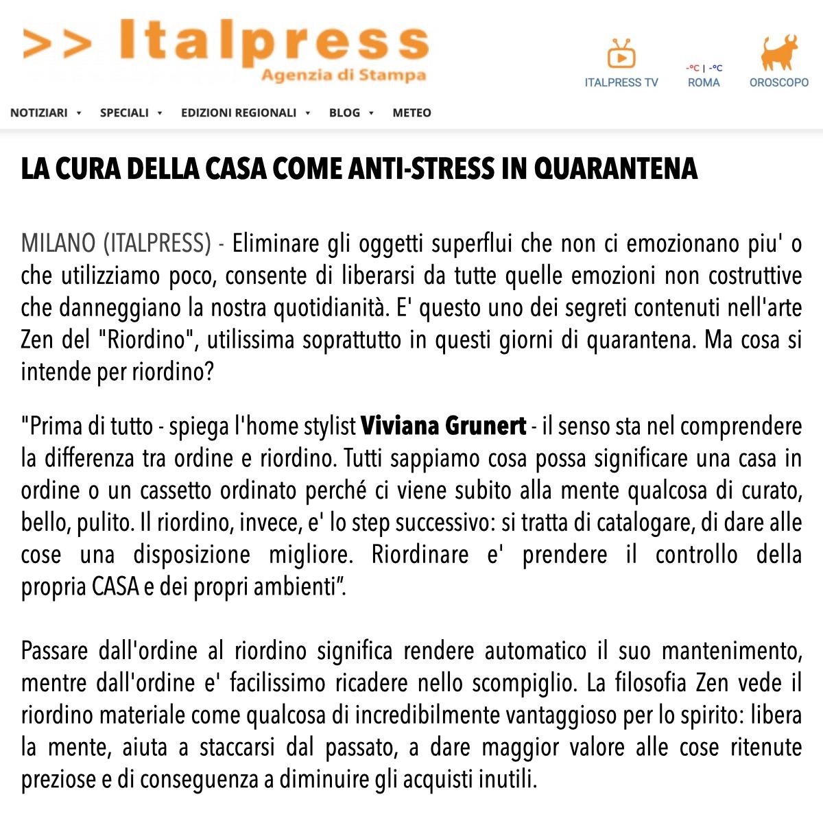 Viviana Grunert su ITALPRESS-20.04.2020
