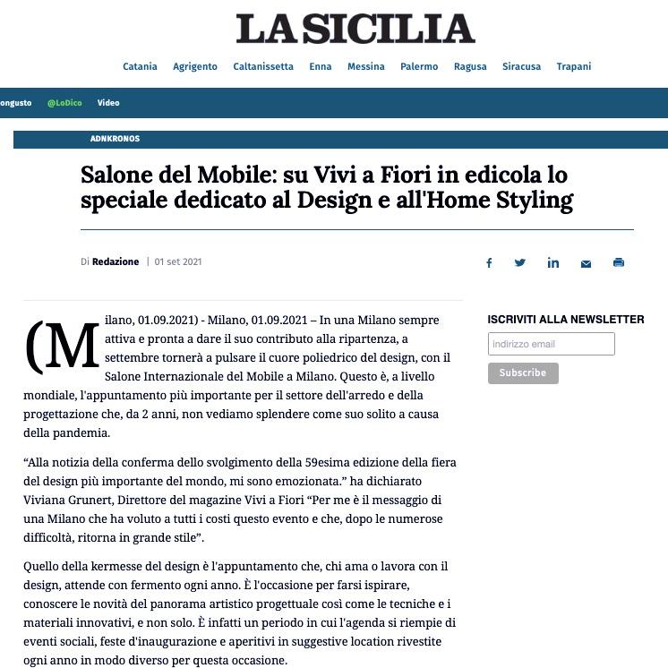 Viviana Grunert su LA SICILIA-01.09.2021