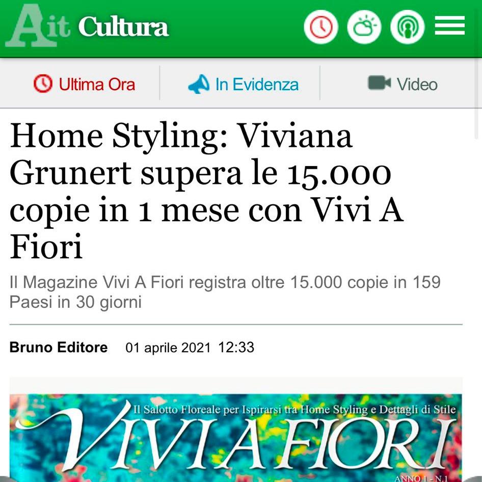 Viviana Grunert su ANSA-01.04.2021