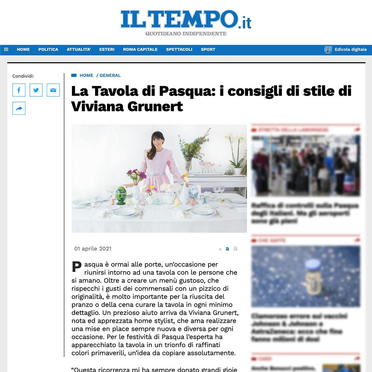 Viviana Grunert su ILTEMPO-01.04.2021