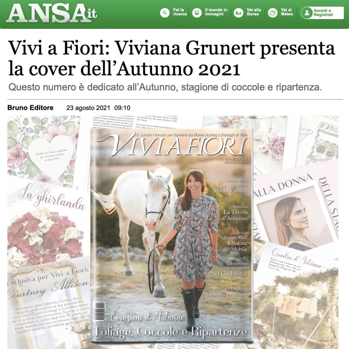Viviana Grunert su ANSA-23.08.2021