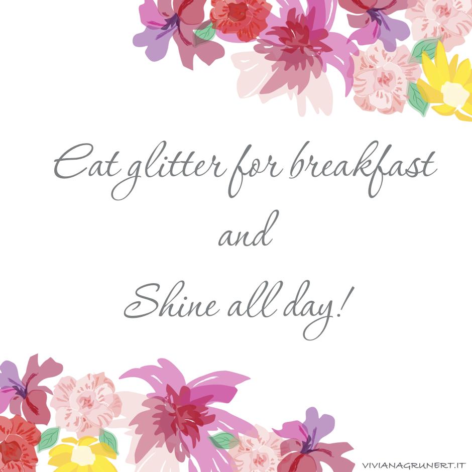 glitter for breakfast