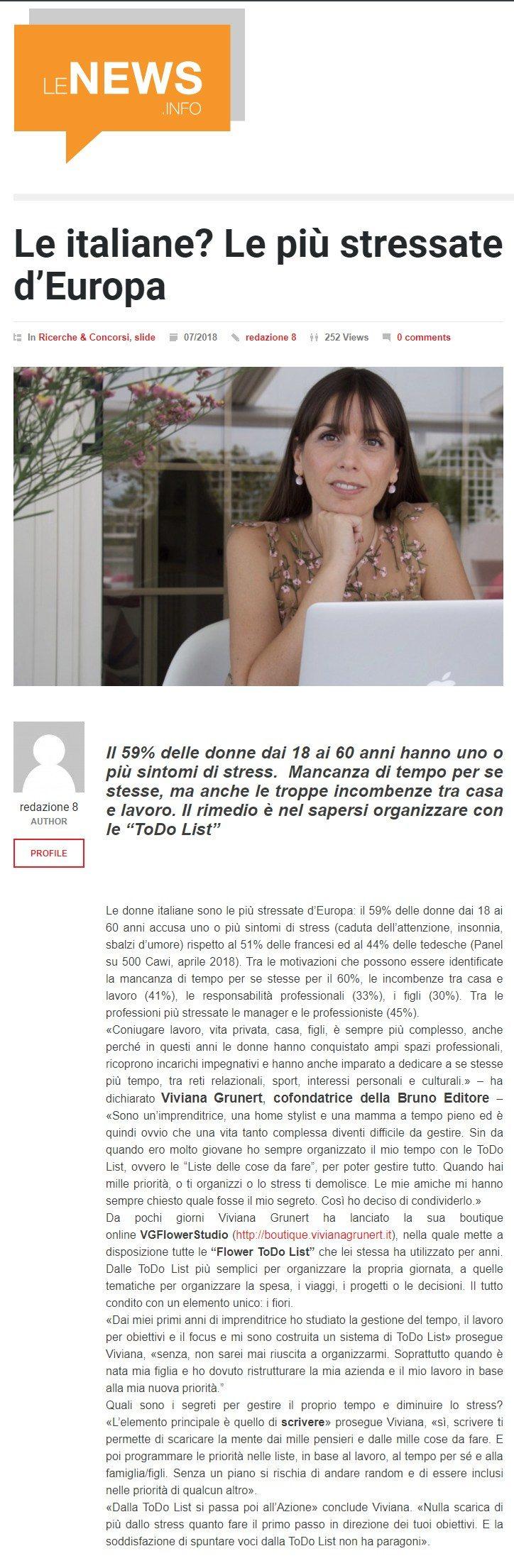 Intervista - Le News.info – Luglio 2018