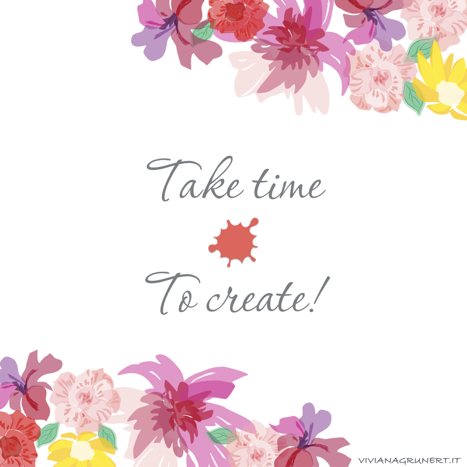 take time to create