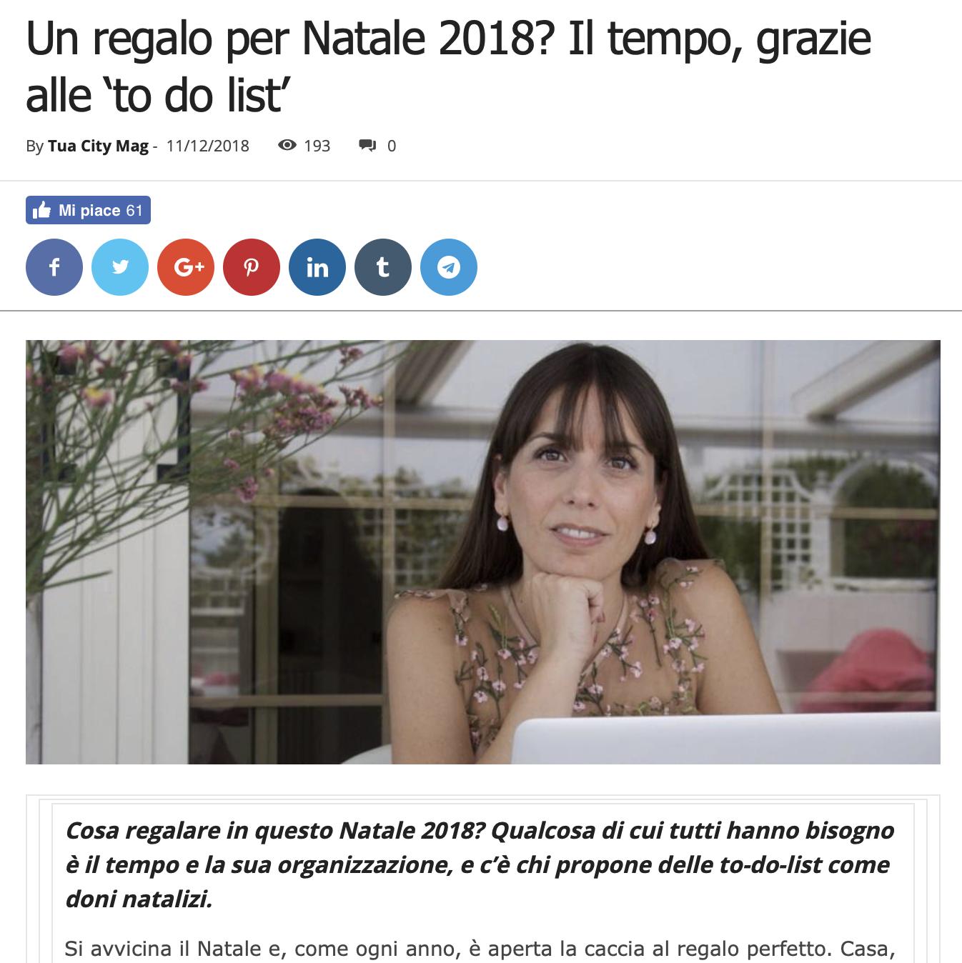 Viviana Grunert su TUACITYMAG-11.12.2018